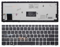 New Backlit Laptop Keyboard for HP EliteBook Folio 9470m Ultrabook 9480m US English black Teclado with silver Frame