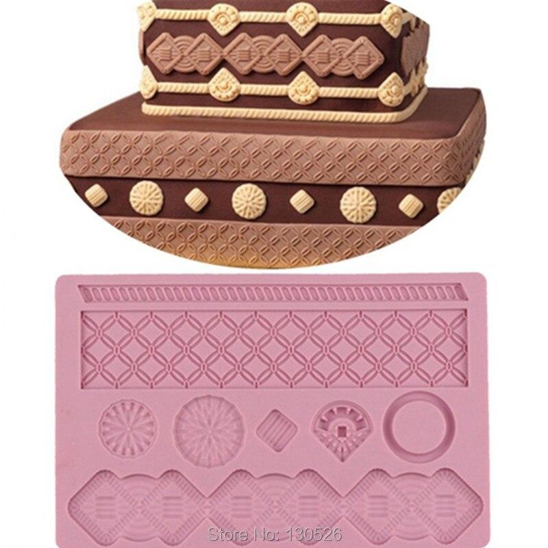 1Pcs DIY Square Silicone Fondant Mold Cake Decorations ...