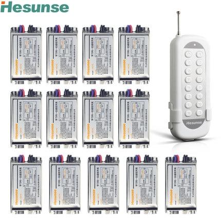 Y-F211C1N13 220V 13 Channels Wireless RF Disconnect Remote Control Switch Learning Code Switch Through Walls 110V brooklyn calling n y c футболка