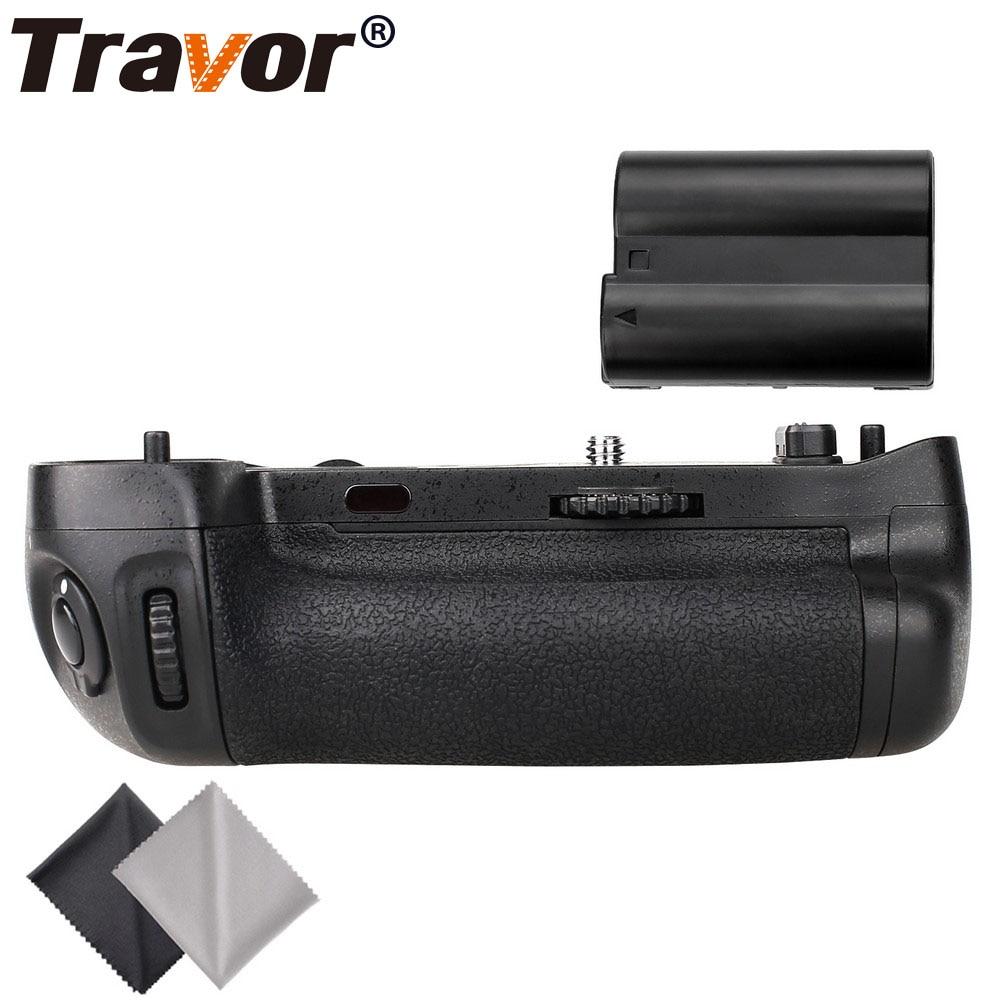 Travor vertical battery grip holder for Nikon D750 DSLR Camera as MB-D16 +1pc EN-EL15 battery+2pcs Microfiber Cleaning Cloth