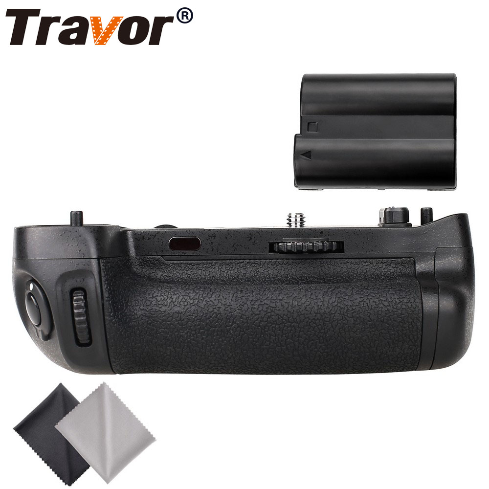 Travor vertical battery grip holder for Nikon D750 DSLR Camera as MB-D16 +1pc EN-EL15 battery+2pcs Microfiber Cleaning Cloth meike mk dr750 vertical battery grip pack holder for nikon d750 rechargeable li ion battery for nikon en el15 cleaning kit