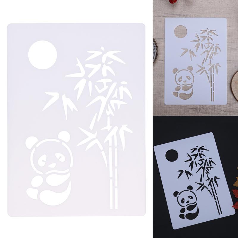 Panda bamboo diy craft layering stencils for walls scrapbooking panda bamboo diy craft layering stencils for walls scrapbooking painting template stamps album decorative embossing paper card on aliexpress alibaba maxwellsz