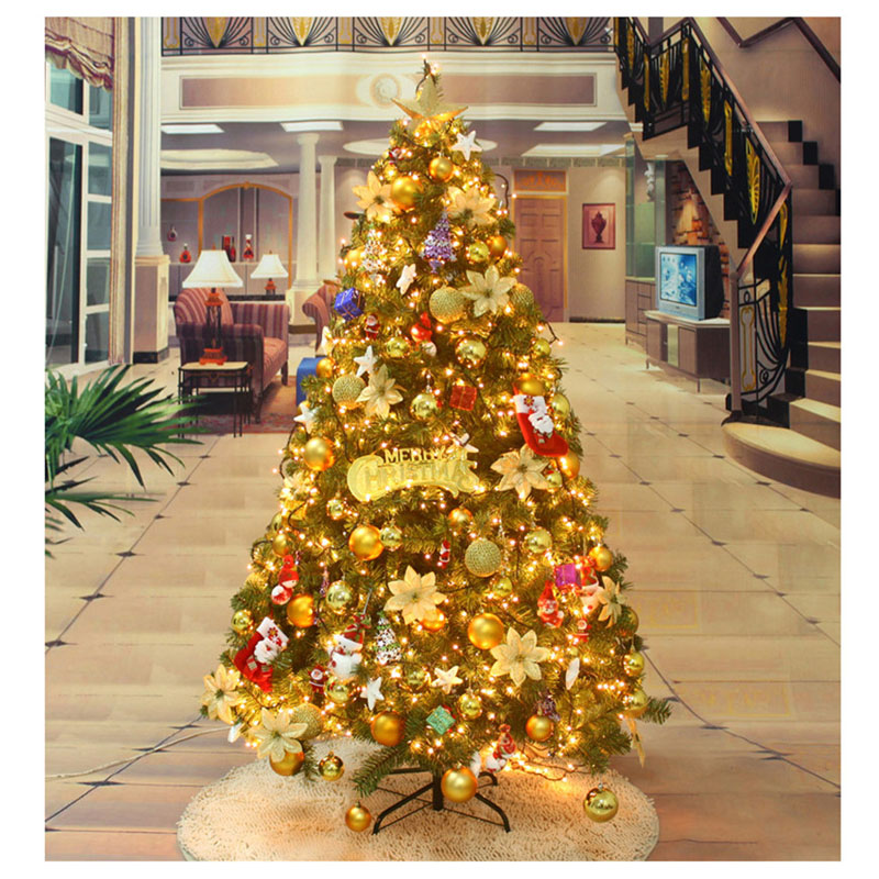 15m christmas tree with many tree decorations glowing gold luxury christmas tree home market bar party wedding decoration mfd42 in trees from home garden
