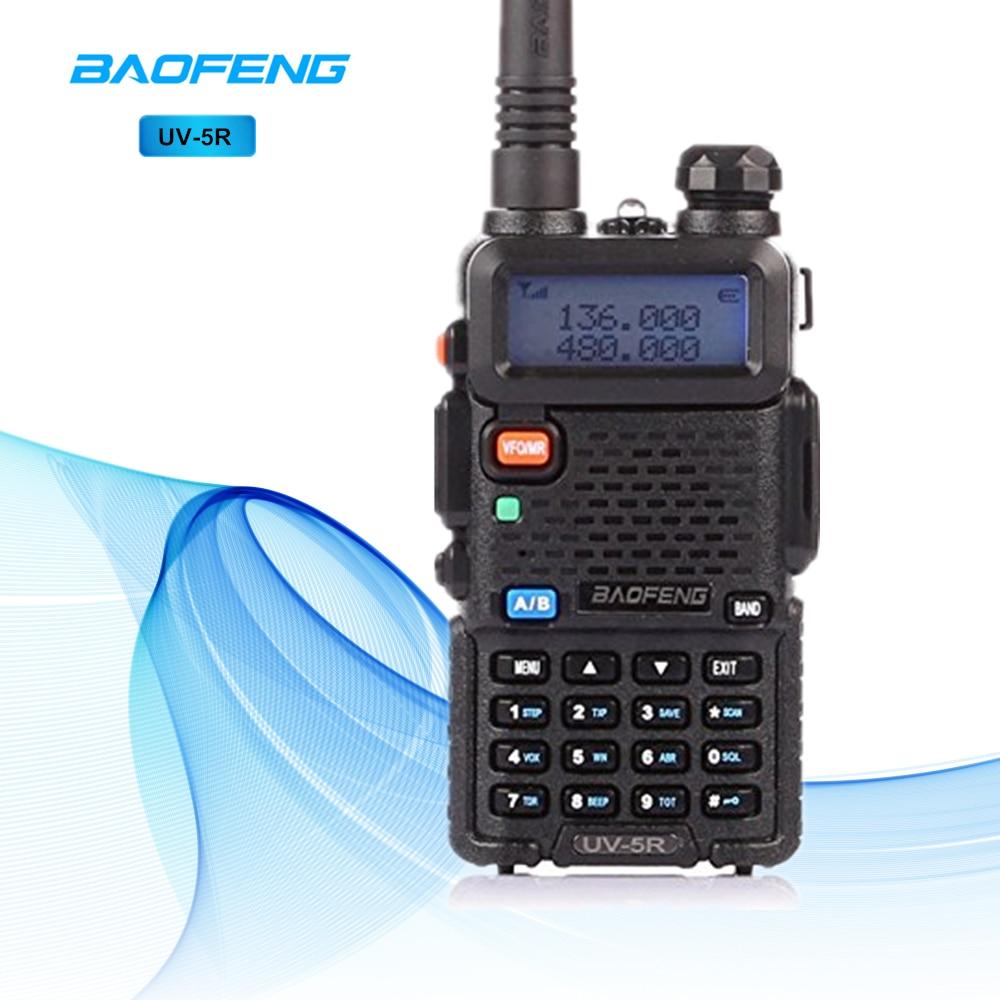 Baofeng UV-5R Talkie Walkie 10 km Dual Band Ham Radio UHF VHF Baofeng UV5R Interphone Radio Bidirectionnelle De Poche Sans Fil interphone