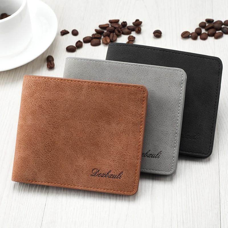 Solide Vintage mat sacs à main pour hommes avec pièce de poche pince à billets nouveau Design Dollars mince portefeuille centre commercial portefeuilles sac à main