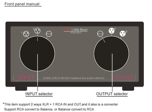 Image 4 - Nobsound 3 ב 3 החוצה XLR מאוזן/RCA סטריאו ממיר אודיו בורר תיבת פסיבי Preamp עבור בית מגבר