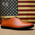 2016 Top Fashion Hot Sale British Style Men Doug Shoes Spring Autumn Genuine Flats For Fashion Popular Man Man's Chaussure Homm