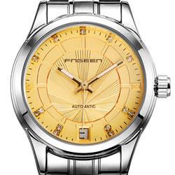 Для женщин часы нержавеющая сталь бизнес бренд fngeen для женщин S часы автоматические механические сталь водонепроница