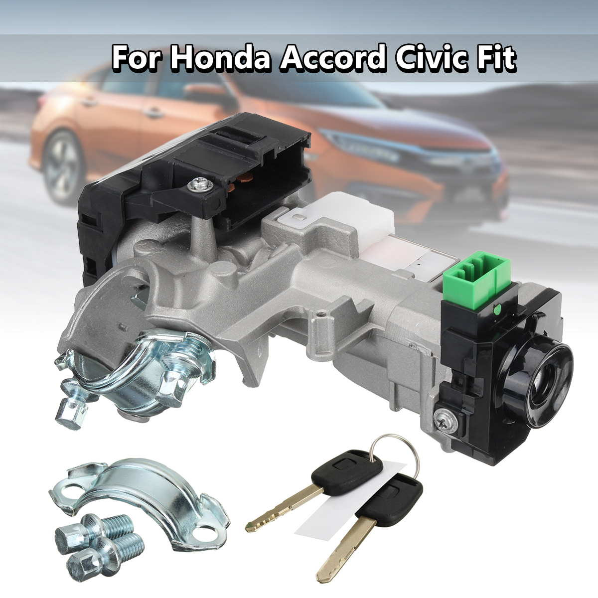 Переключатель зажигания цилиндр замок Авто Trans 2 Ключи для Honda Accord Civic 2003 2004 2005