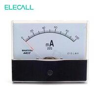 ELECALL 44C2 100mA Аналоговый амперметр измерительный прибор DC механический указатель амперметр