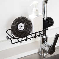 Multi-functional Sink Hanging Storage Rack Holder Faucet Clip Bathroom Kitchen Dishcloth Clip Shelf Drain Dry Towel Organizer