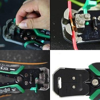 LAOA LA815138 Multifunctionele Automatische Cable Stripper Crimper Krimptang Snijden Tang Strippen Terminal Hand Tool