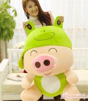 largest 95cm Mcdull pig turn to frog plush toy hugging pillow birthday gift h860