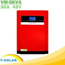 5000W saf sinüs dalgası güneş hibrid invertör MPPT 80A GÜNEŞ PANELI şarj cihazı ve AC şarj aleti hepsi bir arada 230VAC güneş şarj regülatörü