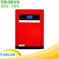 Onduleur hybride solaire à onde sinusoïdale Pure 5000W MPPT 80A chargeur de panneau solaire et chargeur ca tout en un contrôleur de Charge solaire 230VAC