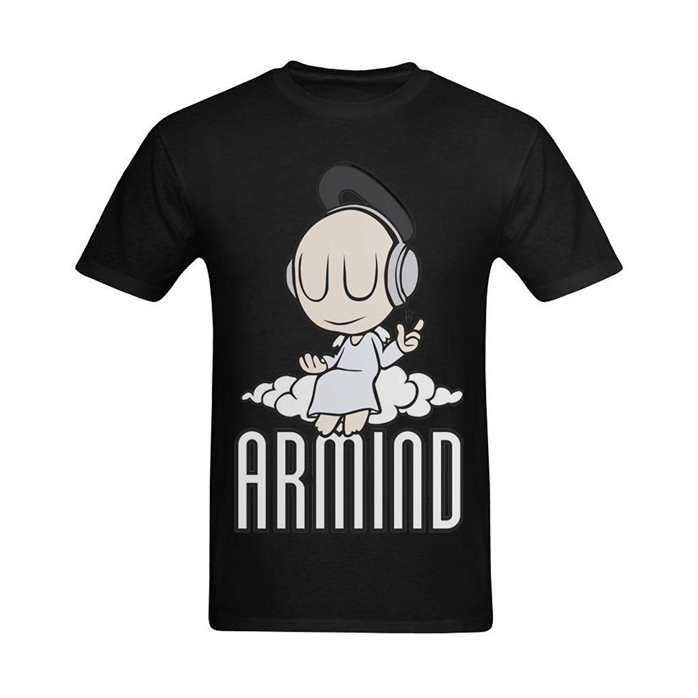 New ARMIND Trance Music Logo *Armin Van Buuren Men's White T-Shirt Size S-3XL Men T Shirt Men Clothing Plus Size Top Tee