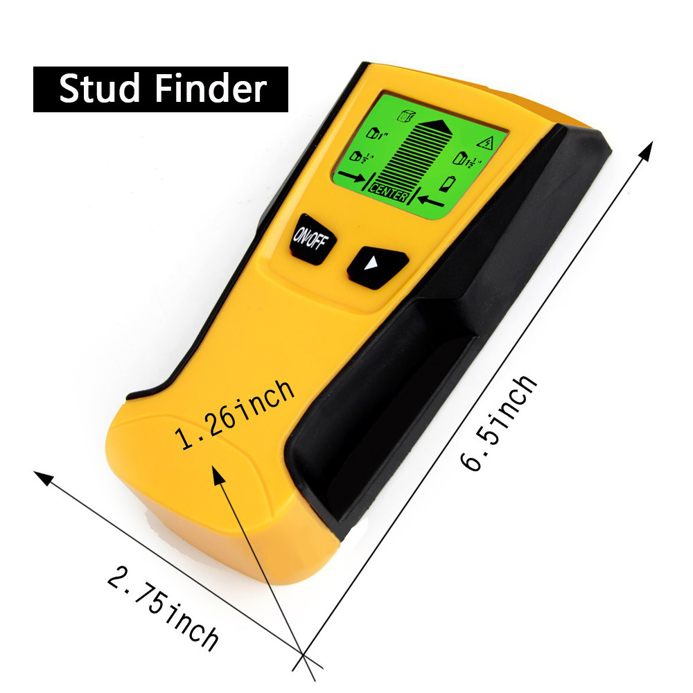 3 Inches Wall Detector Stud Pillar Finder Detect Inspection Wall Metal Wood Detector Off-the-shelf TH210 Wall Scanner On Stock