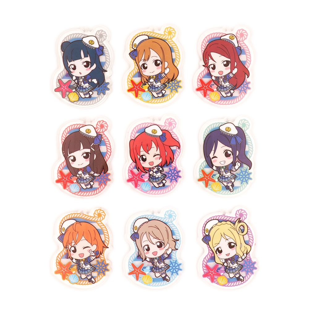 Love Live Lovelive Sunshine Aqours Aquarium Anime Yoshiko Chika Hanamaru Ruby You Dia Riko Kanan Mari Beanchain Acrylic Keychain