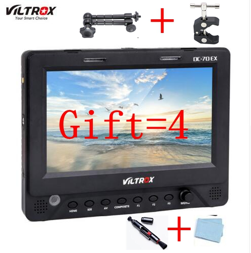 7'' Viltrox DC-70EX 4K HD Clip-on HDMI/SDI/AV Input Output Camera Video LCD Monitor Display for Canon Nikon Pentax Olympus DSLR