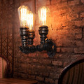 American Village Retro Loft Industrial Edison Style Vintage Wall Light Lamp Water Pipe Lamp Wall Sconce Lighting