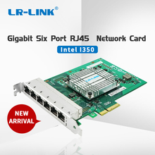 LR-LINK 2006PT Gigabit Ethernet Industrial Adapter Six Port PCI Express Lan Network Card Server Adapter Intel I350 NIC single port fiber lc 10 gigabit ethernet server adapter card x520 sr1 e10g41bfsr free shipping