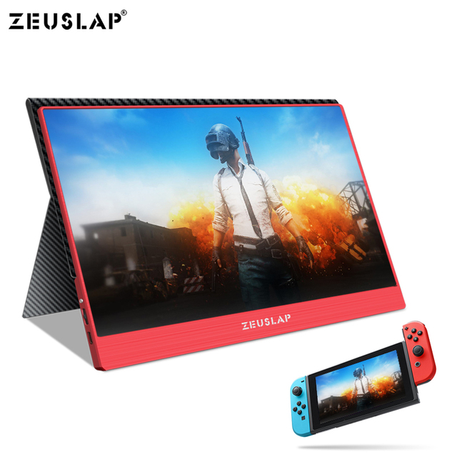 15.6inch 1920X1080P FHD NTSC 72% TYPE C HDMI Portable LCD Screen HD Gaming Monitor for Switch Samsung S8 Huawei Mate 10