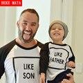Combinando mãe filha filho pai roupas outono 2016 algodão de manga comprida t-shirt da família olhar clothing família roupas combinando