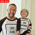 Matching Father Son Clothes Autumn 2016 Cotton Long Sleeve Mother Daughter T-shirts Family Look Clothing Family Matching Outfits