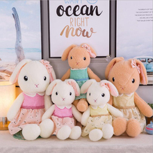 New Style Cute Wearing Dress Rabbit Plush Toys Stuffed Animal Doll Toy Girls Birthday Gifts Children Gift