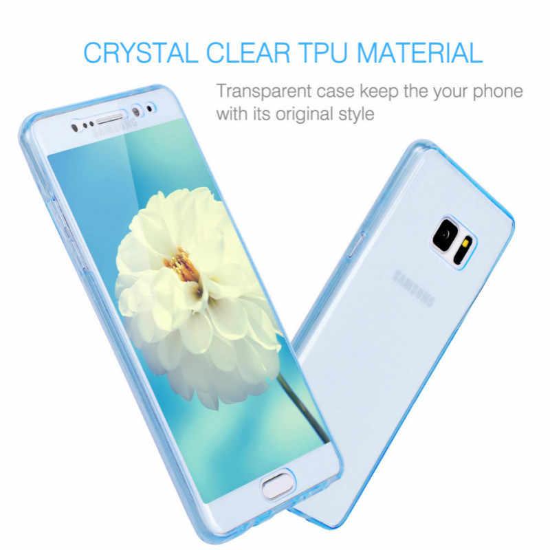360 Полный сенсорный чехол для Samsung Galaxy A3 A5 A7 2016 2017 A310 A510 A710 G530 ТПУ Передняя и задняя крышка чехол для A320 A520 A720