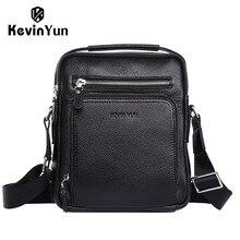 KEVIN YUN Designer Brand Genuine Leather Bag Men Handbag Shoulder Bags Crossbody Mens Messenger Bags Business
