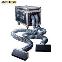 Two Head Water Base Fog Machine DMX Wireless 2000w WaterBase Fog Machine Dry Ice Effect Low Lying Haze Machine with smoke nozzle