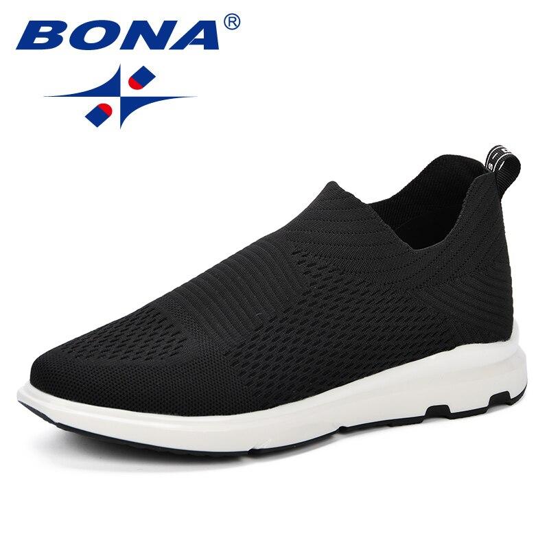 BONA 2019 printemps automne hommes baskets Balenciaca chaussures Sport Flyknit chaussures De marche confortables Zapatos De Hombre Boost hommes chaussures