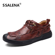 Handmade Mens Formal Shoes High Quality Lace-Up Party And Wedding Men Flats Leather Wearable Comfortable Shoes AA10168