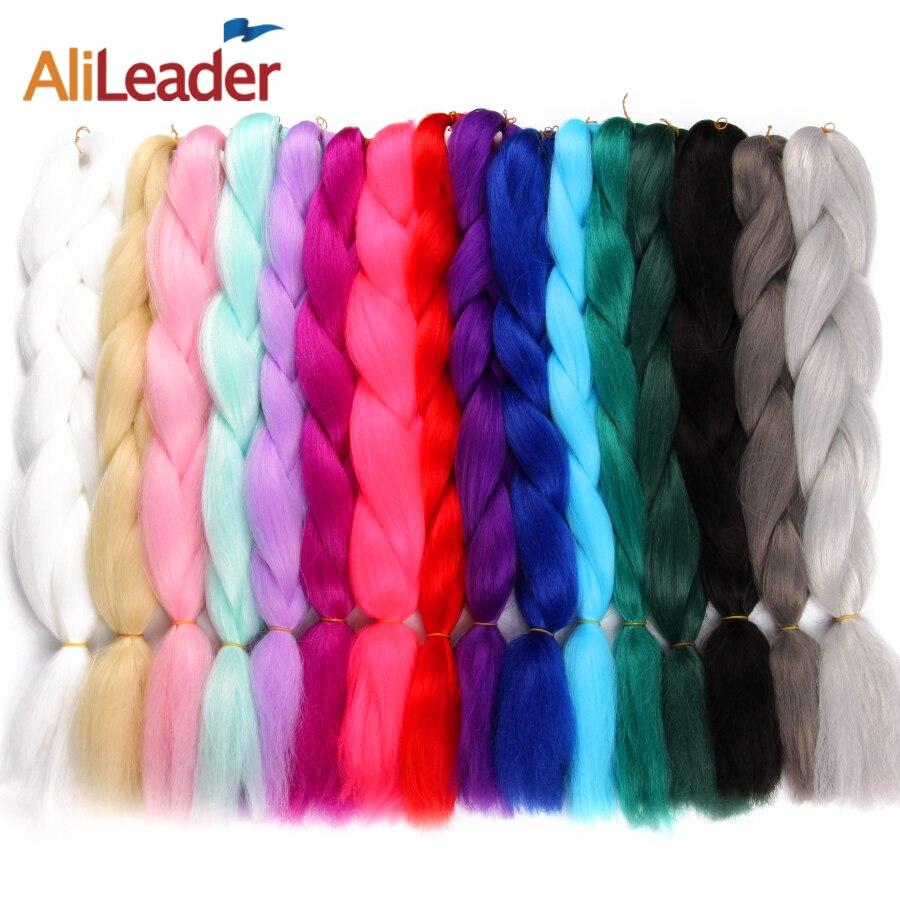 Alileader 1-10 шт. нота косы розовый белый серый плетение волос Ombre Моноволокно джамбо коса Химическое наращивание волос Синтетические волосы кос...