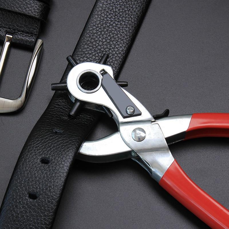 Просекатель для изделий из кожи, дырокол, пробойник, ушко, перфоратор вращающийся, швейная машина, сумка, кожаный ремень, ремешок для часов, к...