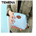 TEMENA  Fashion ZIPPER Dumplings Comestic Pouch Bag Women Small Makeup Bag Organizer Storage Bag Handbag BCB600A