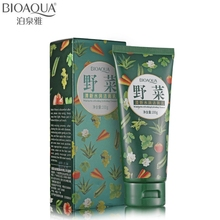 BIOAQUA Brand Wild Vegetables Essence Face Cleaning Cream Skin Care Deep Cleaning Remove Blackheads Shrink Pores Moisturizing