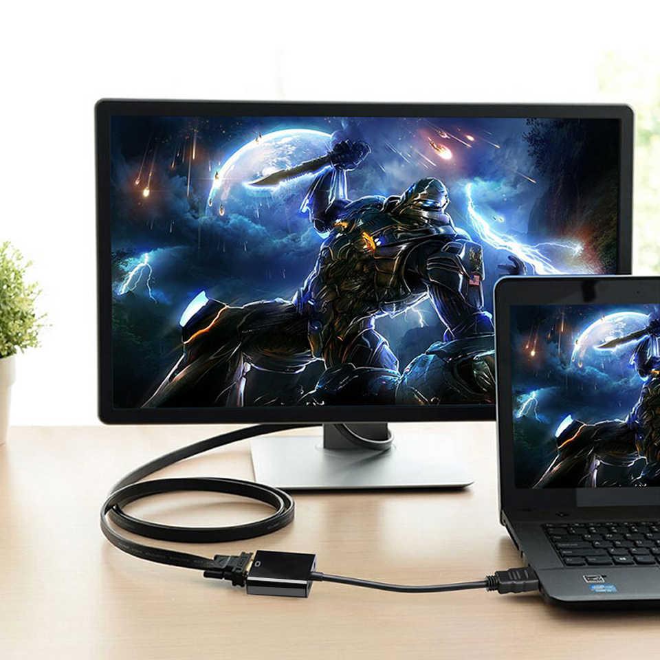 QGeeM HDMI لمحول VGA الرقمية إلى التناظرية محول صوت الفيديو كابل HDMI VGA موصل لأجهزة إكس بوكس 360 PS4 الكمبيوتر المحمول صندوق التلفزيون