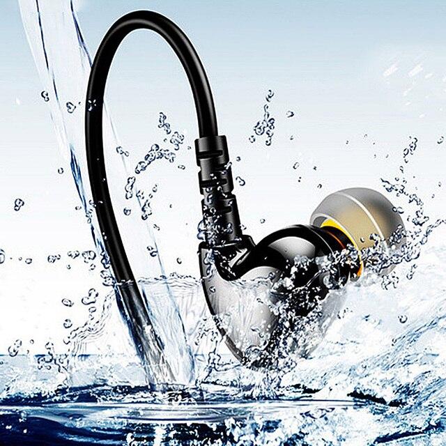 RUKZ S6 XBS basse Sport écouteurs pour téléphone portable bruit suppression écouteur DJ stéréo dans loreille en cours dexécution écouteurs HiFi écouteurs