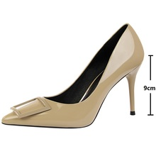 high heel sexy pumps women shoes Fashionable professional OL women's shoes with high heels and patent leather shingles red green fashionable women s pumps with solid color and pu leather design