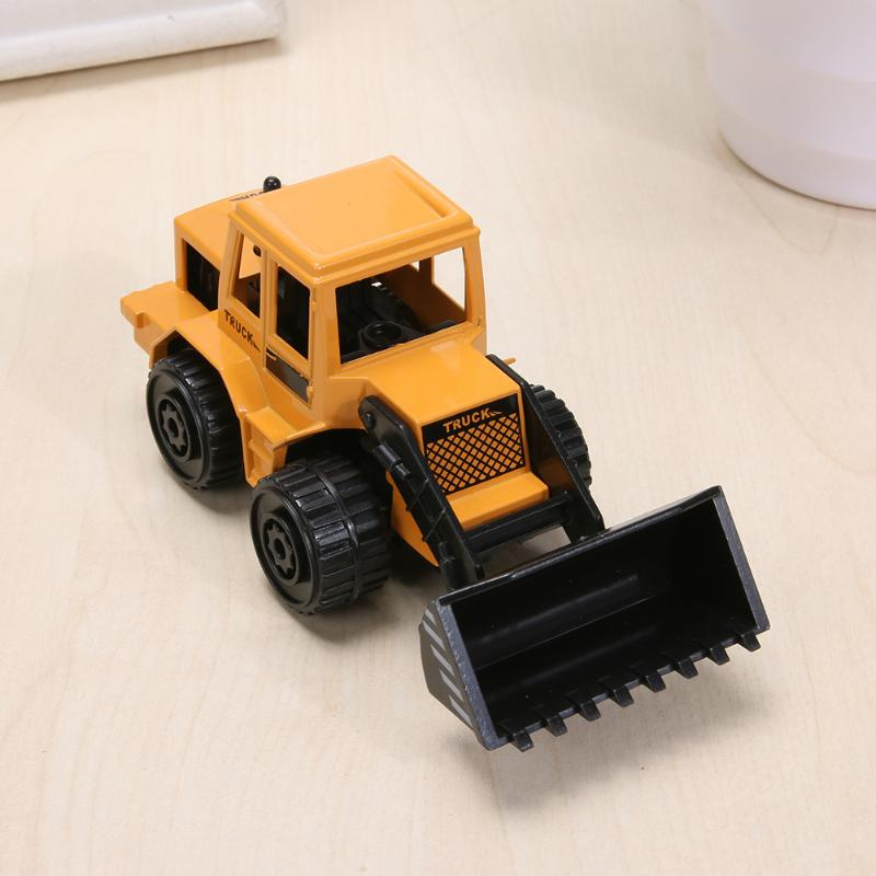 Image 3 - Mini Engineering Vehicles Pull Back Toy Excavator Forklift Burrow Truck Dump Truck Crane Charging Crane Road Roller Kids Toys-in Diecasts & Toy Vehicles from Toys & Hobbies