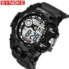 be1b58ec504 SYNOKE Relógio Dos Homens Esportivos de Luxo G Choque Militar Do Exército Do  Esporte Digital LED de Pulso À Prova D  Água Relógi.