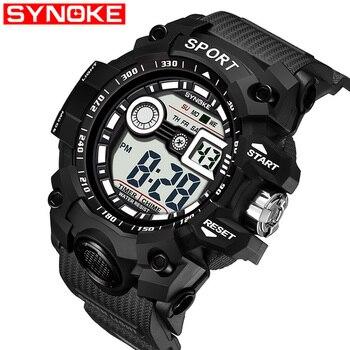 3b39ab1fb4c0 SYNOKE deportivo de lujo de los Hombres G Digital Shock ejército militar  deporte LED impermeable muñeca Relojes hombres reloj Masculino para regalo