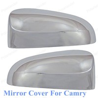 2pc Lot Chromium Styling Car Rear View Mirror Covers For T Oyota C Amry 2012 2015