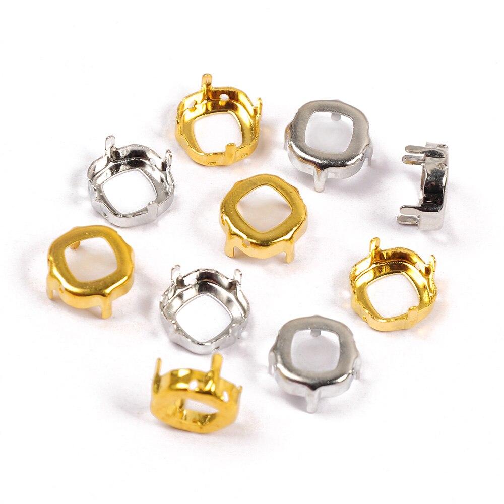 001VM Sew On crystal cut glass claw diamante Rhinestone jewels Strass gold silver setting Beads Craft Gems garment Decoration in Rhinestones from Home Garden