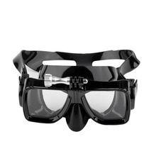 HWCamera Mount Tempered Glass Lens Adult Dive Underwater Diving Face Mask Scuba Snorkel Swimming Goggles For GoPro Hero free