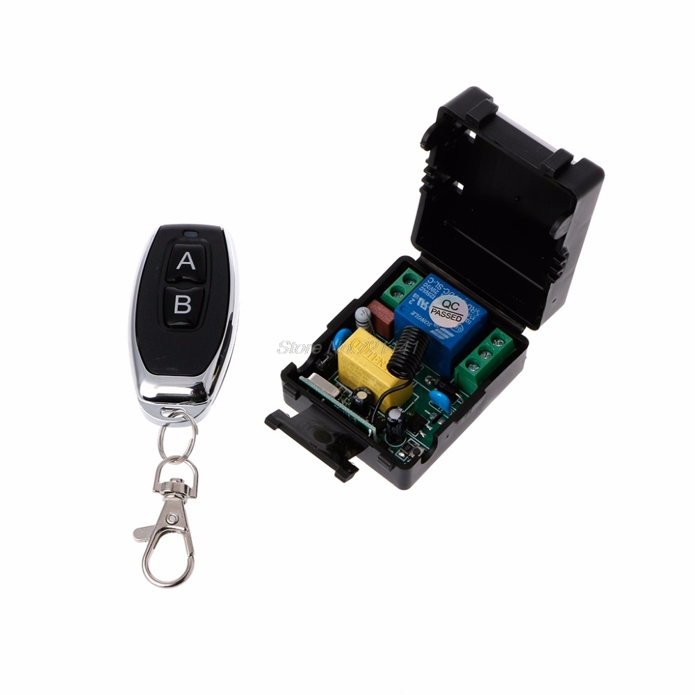 AC 220V 10A 1CH RF 433MHz Wireless Remote Control Switch Receiver Module + Transmitter Kit For Home Electronics Stocks