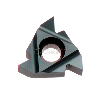 New Israel Original Vargus Vardex 3ER 19BSPT VTX Threaded Carbide Inserts 3ER 19 BSPT VTX Cutting Blade Turning Tool Black image
