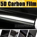 """30x152 CM (12 """"X 60"""")/Lot de la calidad Estupenda Ultra Brillo de $ number D De Fibra De Carbono Textura Super Brillante Del Abrigo Del vinilo 4D 5D Carbon Film"""